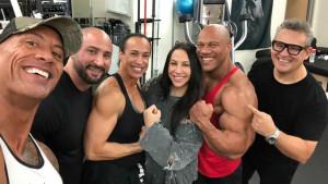 Zajednički trening ruku: The Rock ugostio Phil Heatha u svojoj teretani