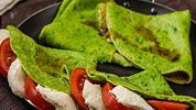 Zelene palačinke sa svježim sirom