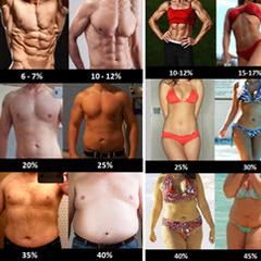 Procenti tjelesnih masti kod žena i muškaraca