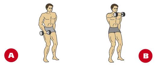 Naizmjenično frontalno podizanje bučicama za ramena